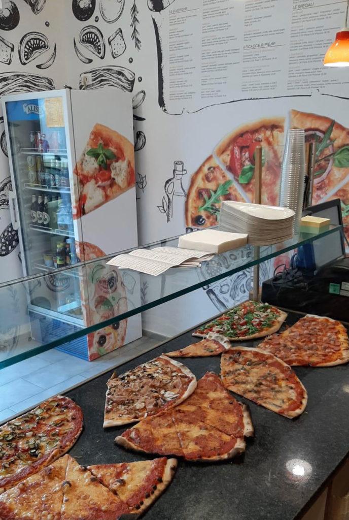 bancone pizza, pizzeria a taglio grassina